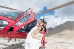 Hochzeit mit Hubschrauber